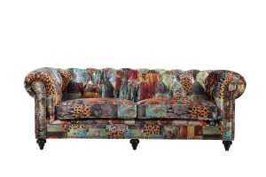 BT Chesterfield Patchwork 3 Seater