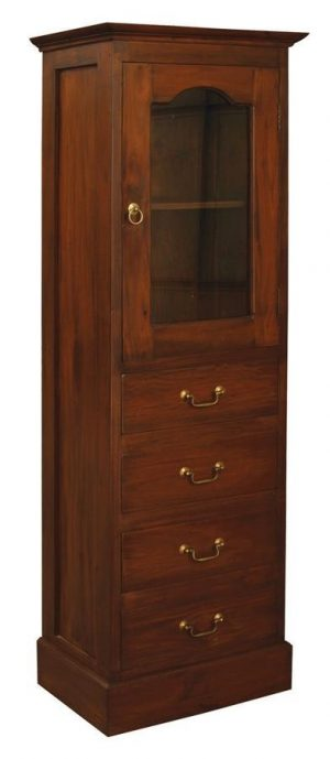 CT 1 Glass Door 4 Drawer Cabinet