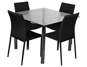BT Sven 5pc Glass Dining Set