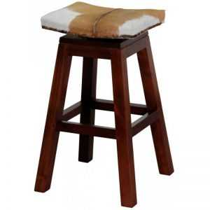 CT Swivel Top Gaot Leather Barstool
