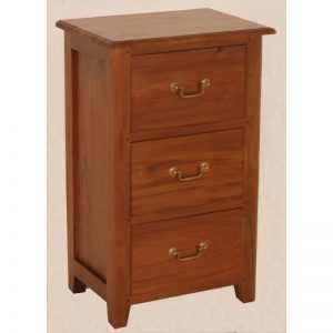 CT 3 Drawer Bedside Table