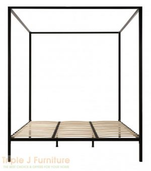 TJ Simply 4 Four Poster Bed Frame in Black