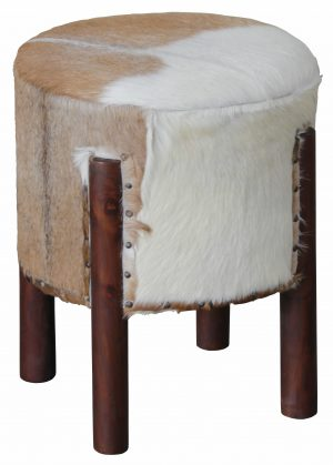 CT UFO Goat Leather Ottoman