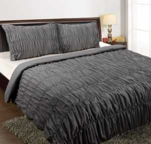 KT Ruched Quilt Cover Set - Double