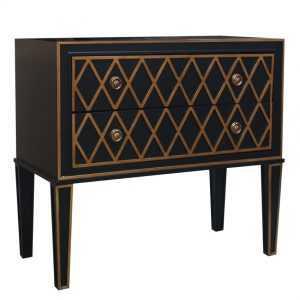 DA Criss Cross Black & Gold chest of drawers