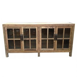 MF Natural Sideboard with Glass Doo