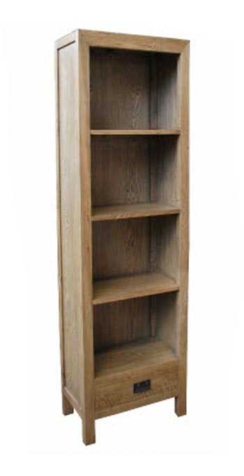 MF Oak 1-Drawer Bookshelf