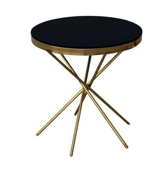 BT SASCHA SIDE TABLE GOLD/BLACK