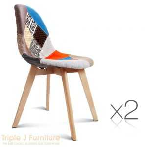 TJ Set of 2 Replica Eames Dining Chairs