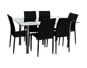 BT Sven 7pc Glass Dining Set