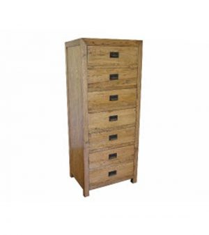 MF Oak 7-Drawer Tallboy