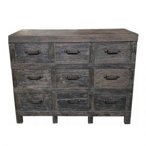 MF Industrial Iron 9-Drawer Sideboa