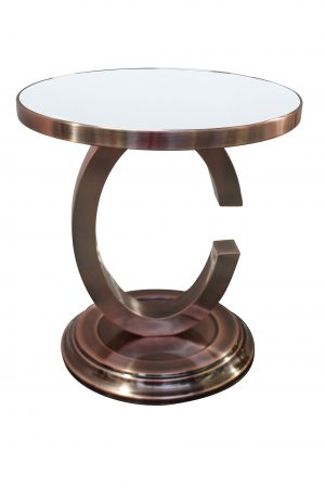 BT Chanel Side Table with White Top
