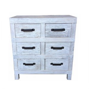 MF Industrial Iron 6-Drawer Chest