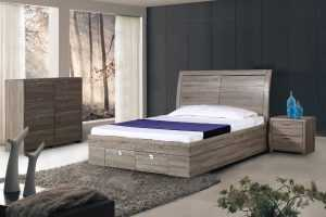 BT Mossland Queen Bed with Gas Lift Storage
