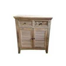 MF Rustic Louvre 2 Drawer & 2 Door