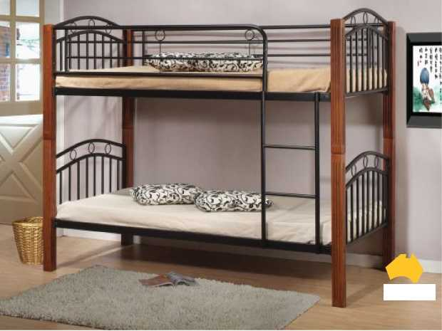 Ai Lachlan Metal And Timber Bunk Single Triple J Furniture