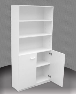 AU 3 FT Bookcase - Half Door