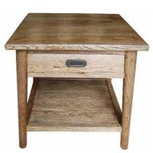 MF Tiffany 1-Drawer Lamp Table