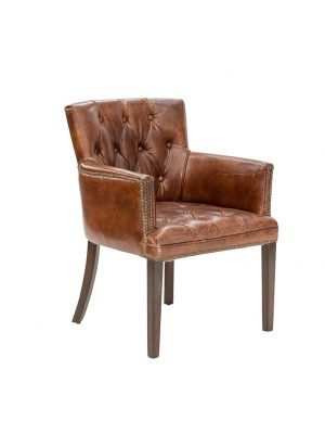 AF Ballard Aged Leather Armchair