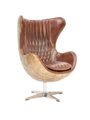 AF Butterfly Aged Leather Armchair