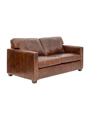 AF Chelsea Aged Leather 2 Seater Sofa