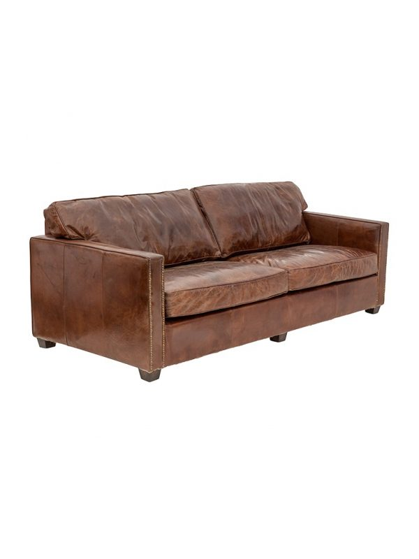 AF Chelsea Aged Leather 3 Seater Sofa