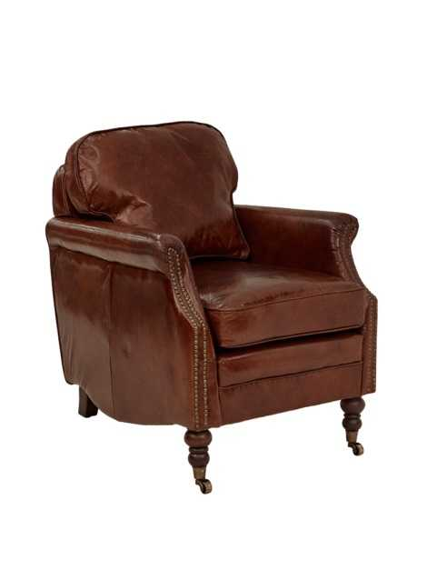 AF Fuscal Aged Leather Armchair