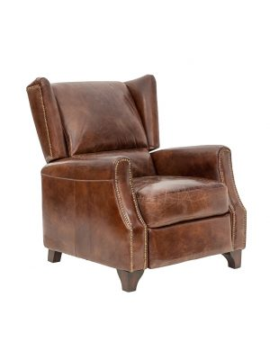 AF Grampians Recliner Aged Leather Armchair