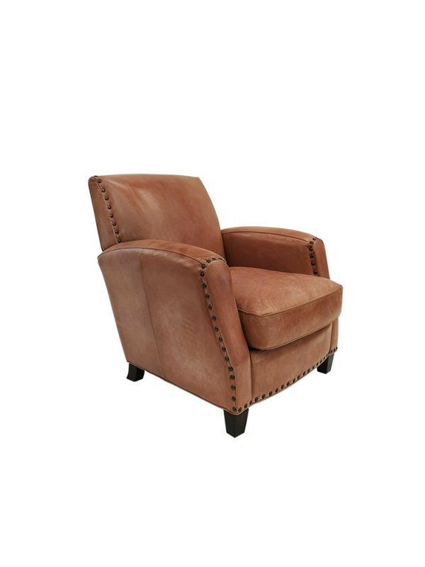 AF Hudson Aged Leather Armchair