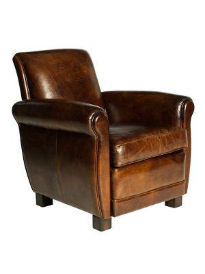 AF Hulbert Cigar Aged Leather Armchair