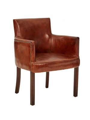 AF Ithaca Leather Armchair
