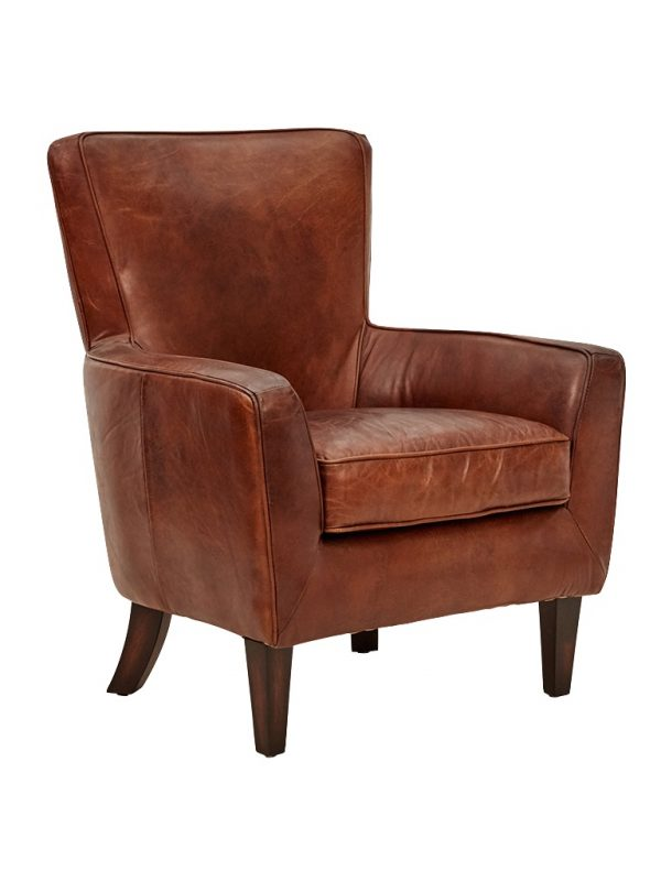 AF Webley Aged Leather Armchair