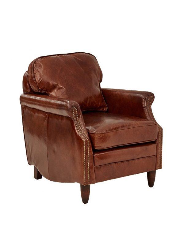 AF Decorous Club Aged Leather Armchair
