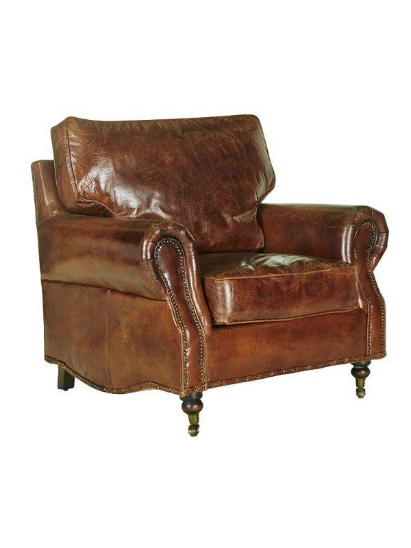 AF Kensington Aged Leather Armchair