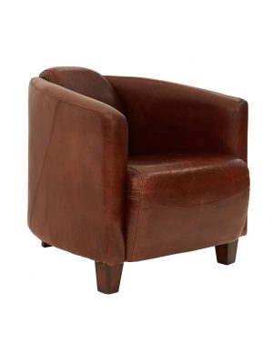 AF Vanguard Club Aged Leather Armchair