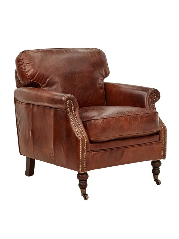 AF Winchester 45 Aged Leather Armchair