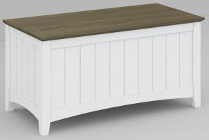 VI Briton Brushed Acacia & MDF Painted Blanket Box Dark Wenge & White Finish