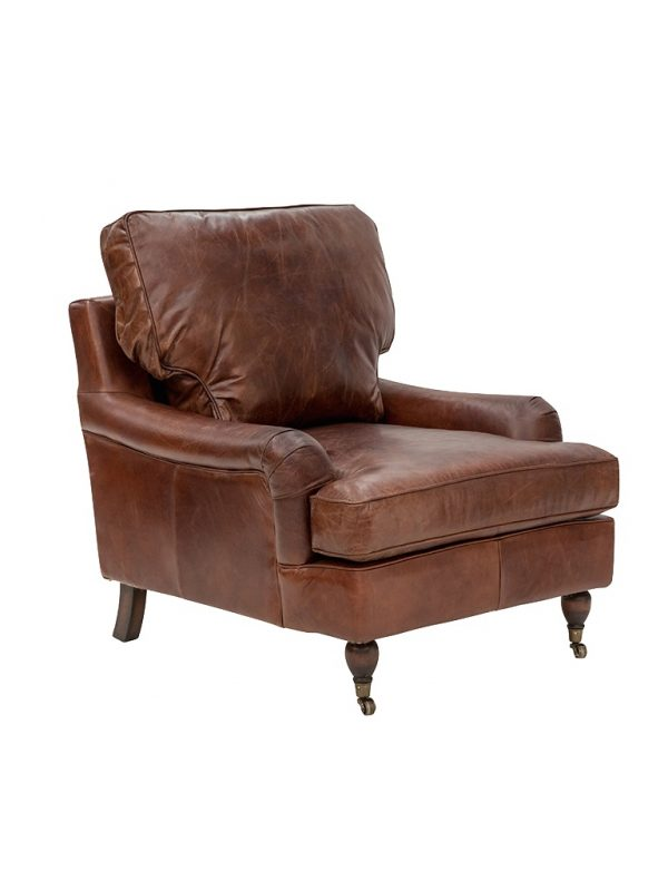 AF Chill Out Aged Leather Armchair