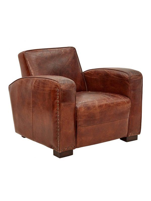 AF Oxford Club Aged Leather Armchair