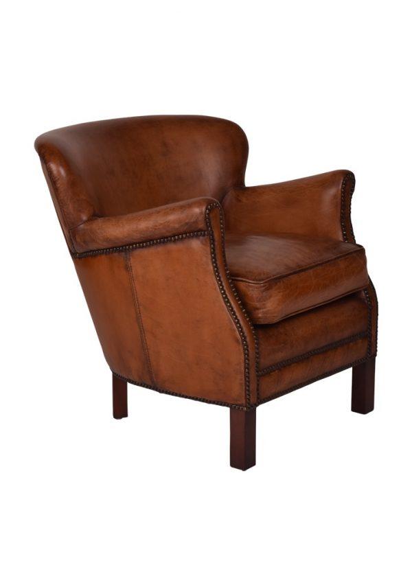 AF Pembroke Leather Armchair