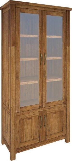 VI Tuscan Mountain Ash Display Unit 4 Doors