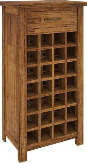 VI Tuscan Mountain Ash Wine Rack 1 Drawer