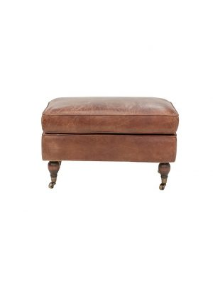 AF Chill Out Aged Leather Ottoman