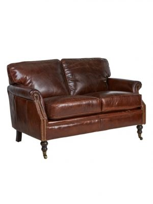 AF Winchester 45 Aged Leather 2 Seater Sofa