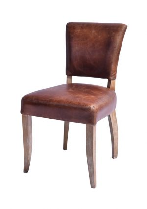 AF Deco Wax Leather Dining Chair