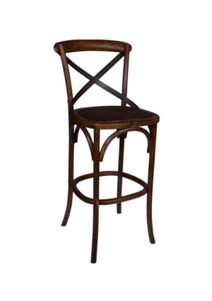 AF Cross Back Warm Oak Bar Stool