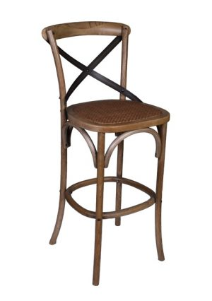 AF Cross Back Dirty Oak Bar Stool