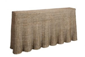 Sassionhome Willow Rattan Console Table