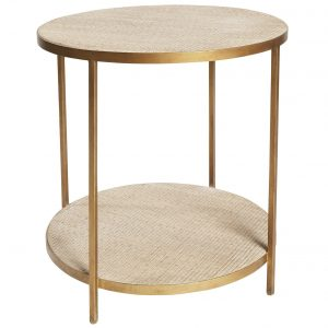 SH Manhattan Rattan Round Lamp Table